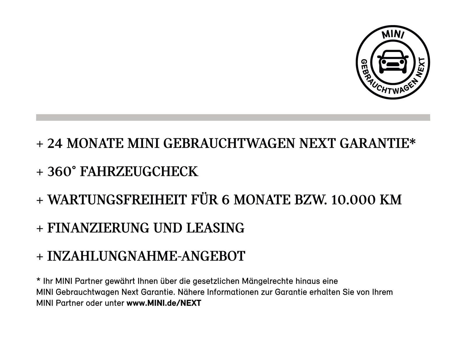 MINI One 3-Türer Pano.Dach JCW Klima PDC